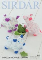 Sirdar Snuggly Snowflake Chunky - 4699 Pig Toys Knitting Pattern